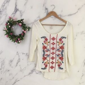 Sundance Floral Embroidered Top